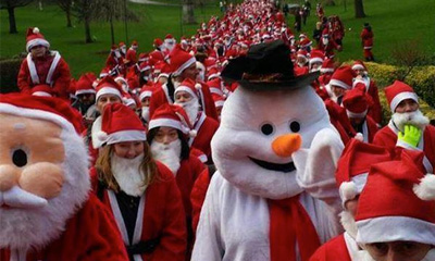 Edinburgh Santa Run 2017