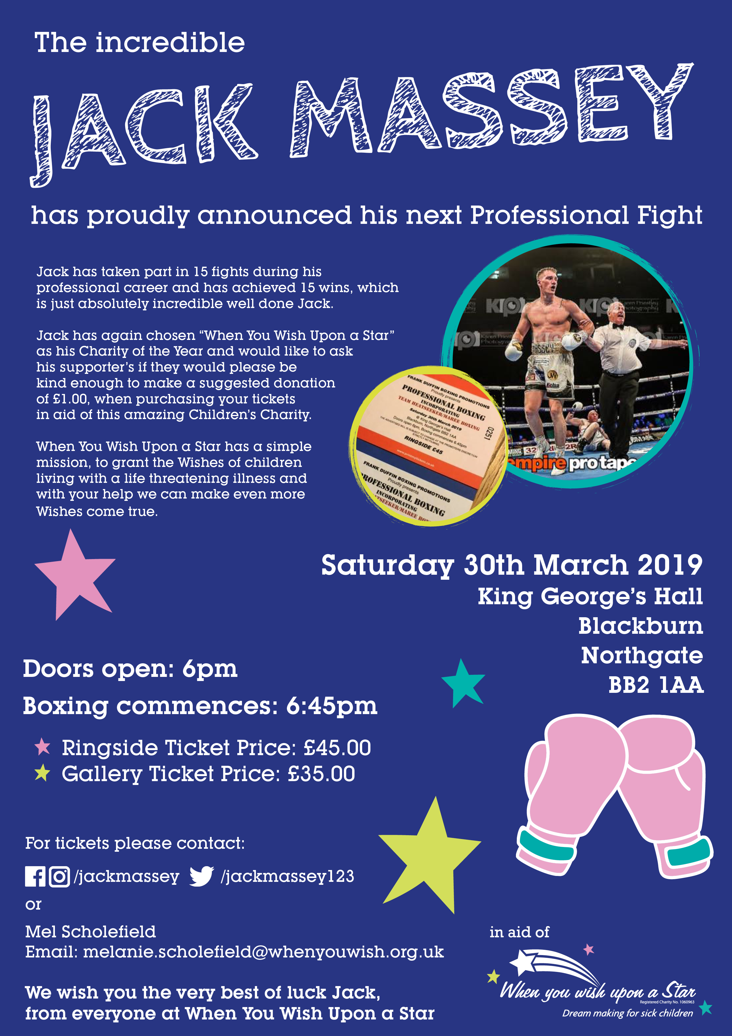 Events | Jack Massey Professional Fight | When you Wish Upon a Star