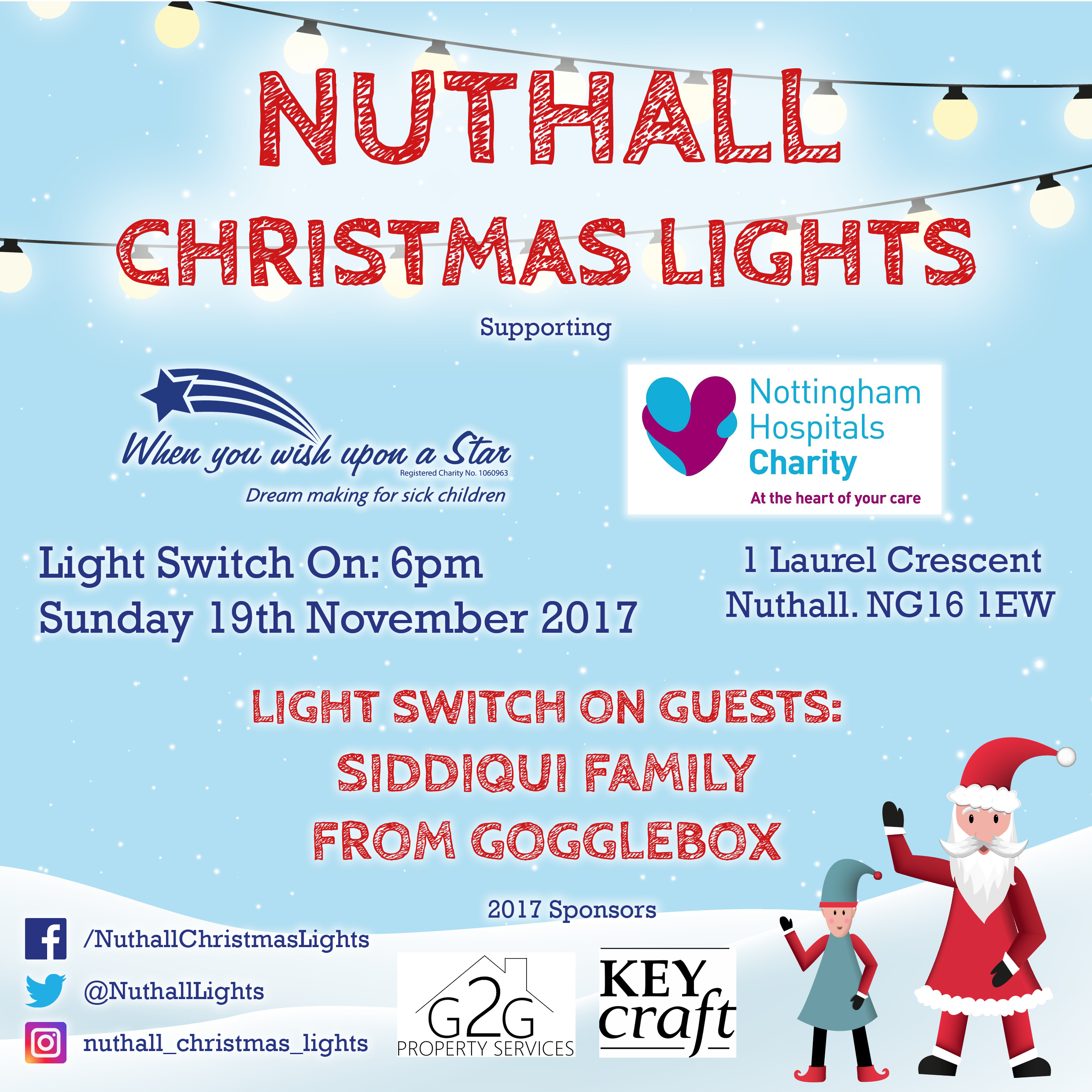 Nuthall Christmas Light Switch On