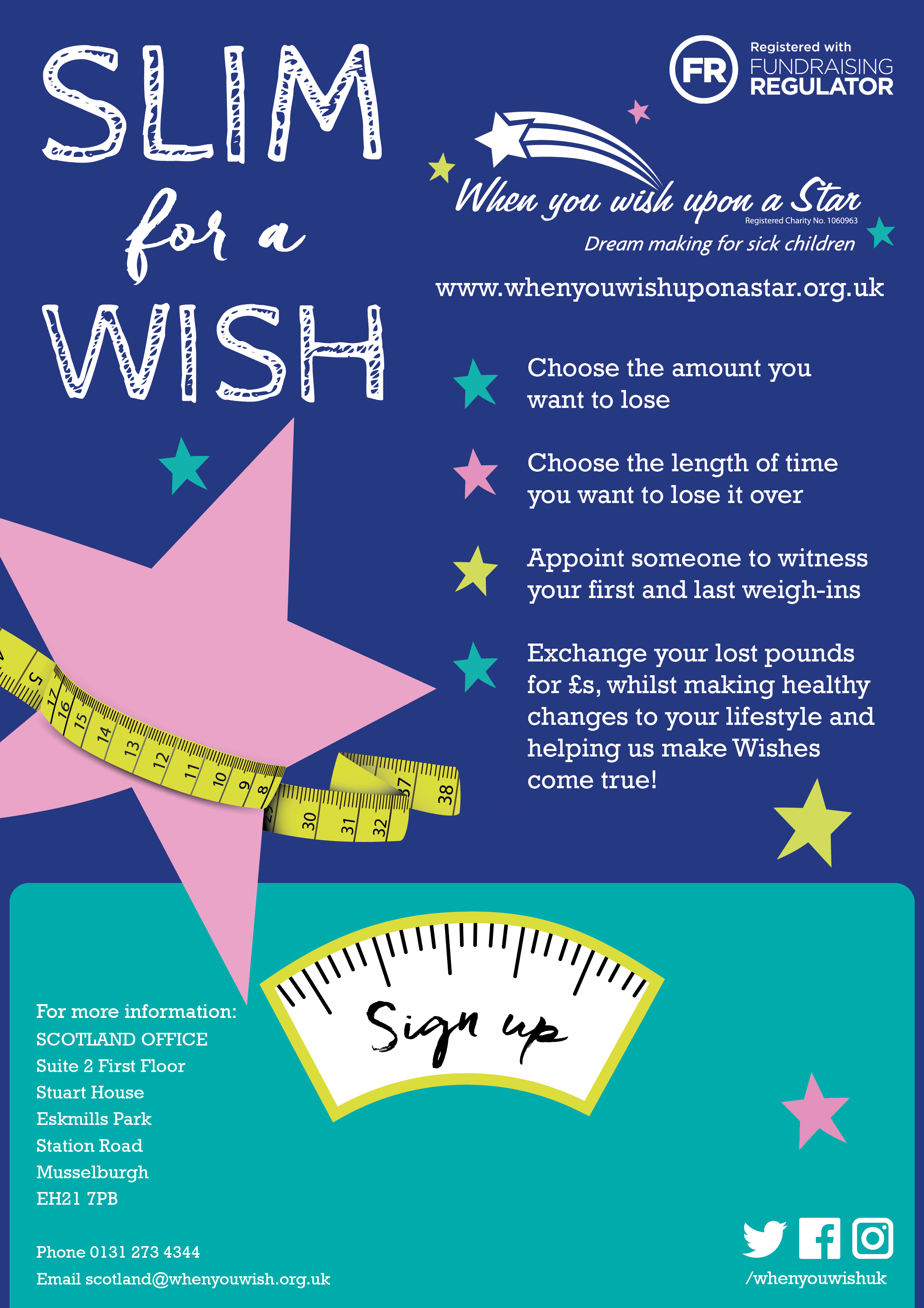 Slim For a Wish Scotland   News   When you Wish Upon a Star
